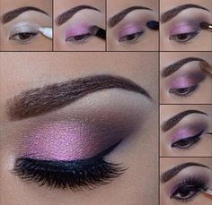 Beautiful eye make up.especially for brown eyes,i Beautiful eye make up.especially for brown eyes,i think. Beautiful eye make up.especially for brown eyes,i think. Eye Makeup Diy, Smokey Eye Makeup Look, Purple Eye Makeup, Makeup Hacks, Makeup Ideas, Beauty Makeup, Purple Lipstick, Purple Eyeshadow, Makeup Art