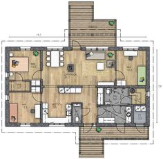 Modern House Plans, House Floor Plans, Future House, My House, One Storey House, Modern Farmhouse, Interior Architecture, Sweet Home, Layout