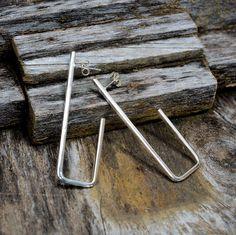 """Sterling Silver """"J"""" Hook Earrings"""