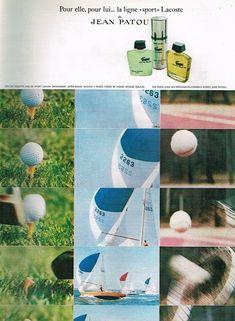 B- Publicité Advertising 1971 Parfum Eau de Toilette Ligne Lacoste De Jean Patou