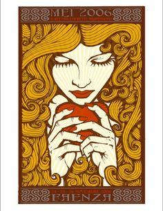 new art nouveau illustrations