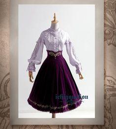 IchigoMikou -The Gold and Silver Tree of Starlight- Lolita High Waist Skirt Long Version