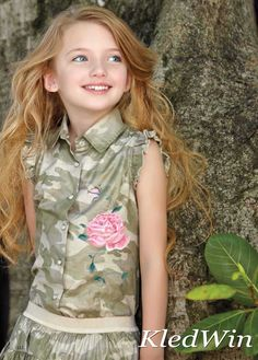 Monnalisa Camouflage Blouse MT 6 Jaar 116 Nieuw WP €133 | eBay