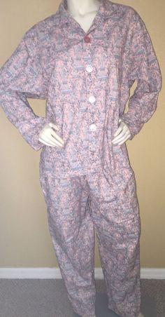 The Cats Pajamas Pink Eiffel Tower Sleepwear USA Size XL Hard to Find Print | eBay