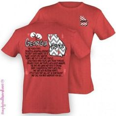 bb7cec8feeab39 Simply Southern Georgia State T-Shirt on Heather Red