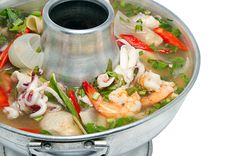 This Thai seafood soup (Tom Yum Talay) is SO delicious. And fairly quick/easy as well. I leave out the fish sauce because of allergies, and it is still fabulous.