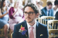 Classic Vintage Street Party Wedding Glasses Groom DIY Buttonhole http://www.ilovestories.co.uk/