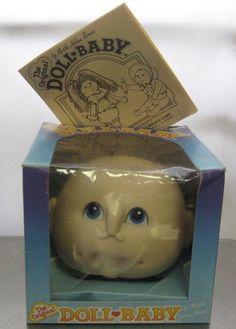 1984 Original Doll Baby #3107 Doll Head Martha Nelson Thomas, Birth Certificate