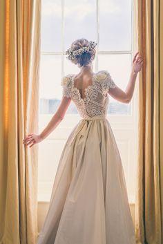 Katya Katya Shehurina Lace Back Dress Romantic Bride Bridal Whimsical English Copper Wedding Ideas http://www.robtarren.co.uk/