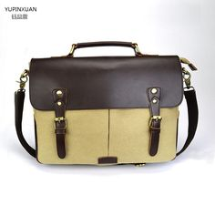 44.14$  Watch now - http://alil3f.shopchina.info/1/go.php?t=32800273168 - YUPINXUAN Vintge Briefcase Men Canvas Handbags Office Bag Laptop Messenger Bag Lawyer Briefcase Retro Work Bag Hombre Bolso  44.14$ #magazineonlinebeautiful
