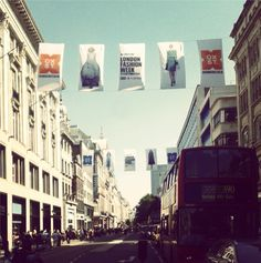 Temperley London flying the flag on Oxford Street for London Fashion Week #temperley #TemperleyLFW