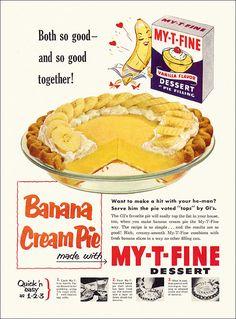 Banana cream pie Retro recipe #recipe #nostalgia