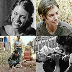 Maggie Rhee and Glenn Rhee □ Season 4 and Season 7 ● REST IN PEACE: Glenn Rhee (and Abraham Ford - he isn't in the picture, but they died on the same, dark night ) | The Walking Dead