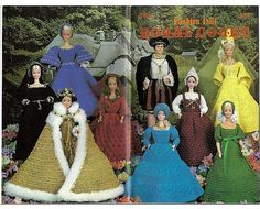 Fashion Doll Royal Court Crochet Pattern for Barbie and Ken Annies Attic 87D14
