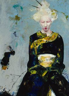 Lita Cabellut | Dried Tear / Mixed media on canvas