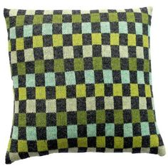 Tante Dagny pude - Grå turkis Knitted Fabric, Knitted Pillows, Knit Pillow, Throw Pillows, Blanket, Knitting, Crochet, Turkis, Collection