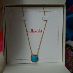 Real gold necklace with a stone in the middle A beautiful necklace with gold around the neck Stella & Dot Jewelry Necklaces