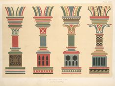 Pillars, arch-mouldings, and strings.... for wall decoration. (1882)