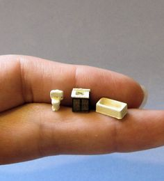 1/144th inch scale miniature-Modern Bathroom