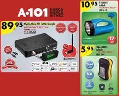 #A101 | 12 Kasım Perşembe Üç farklı ürünle bu hafta A101'deyiz; HT1200 SE 89,95TL, LED615 10,95TL ve LED244 5,95TL!