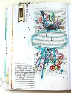 . Bible Art Journaling zu 1. Korinther 2 Vers 12 . Gott hat uns nicht den Geist dieser Welt gegeben, sondern seinen Geist, damit wir das begreifen können, was Gott uns geschenkt hat. . . Heute mit Schrift - für…