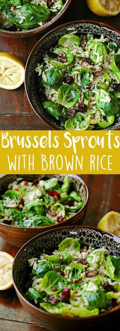 Brussels Sprouts with Lemon and Brown Rice | Eat Yourself Skinny! | Bloglovin'