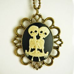 The Twins Cameo Necklace, $30, now featured on Fab.