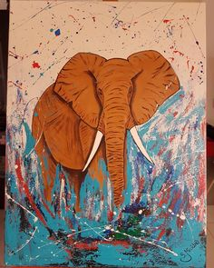 #elefante #artist #kunstwerk #kunstmalerei #maleri #abstractart #artwork #art #arte #artista #artists #mypainting #painting #paint… Moose Art, Animals, Painting, Instagram, Art, Art Paintings, Art Pieces, Animales, Animaux