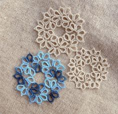 Tatting crochet. Links to great tutorials.