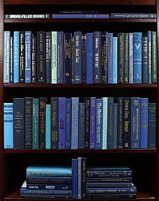 This is SO cool! You can order case-lots of books, by color, to go with your decor! (Not an issue for a book collector like me, but still--cool!)