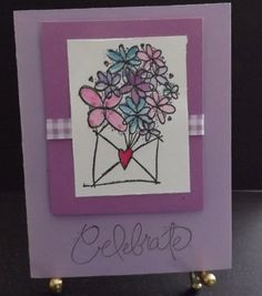 """""""Celebrate"""" Birthday Card available at  http://www.shophandmade.com/store/creationsbysharn/"""