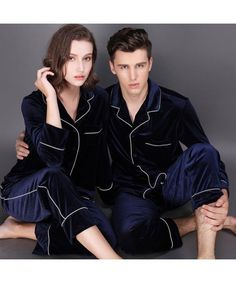 77d6b36f1f Long sleeve fashionable couple pajamas