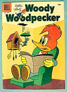 Walter Lantz Woody Woodpecker Comic August 1956 (Cartoon) at A Date In Time Old Comic Books, Vintage Comic Books, Vintage Cartoon, Comic Book Covers, Vintage Comics, Classic Comics, Classic Cartoons, Desenhos Hanna Barbera, Comic Anime