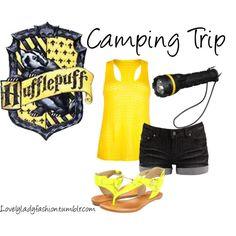 """Hufflepuff Camping Trip"" by sad-samantha on Polyvore"