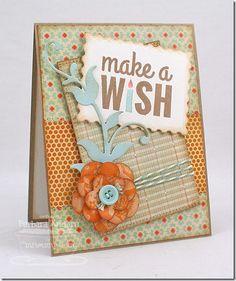 Birthday Sentiments; Medium Leafy Flourish Die-namics; Pretty Posies Die-namics; Postage Stamp STAX Die-namics - Barbara Anders