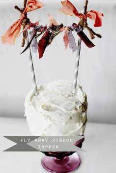 fly away ribbon topper