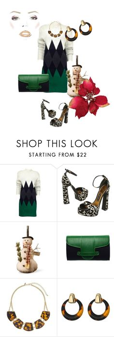 """Holiday Look #32"" by flippintickledinc ❤ liked on Polyvore featuring Jean-Paul Gaultier, Tom Ford, National Tree Company, Emeline Coates, Miss Selfridge and Robert Lee Morris"