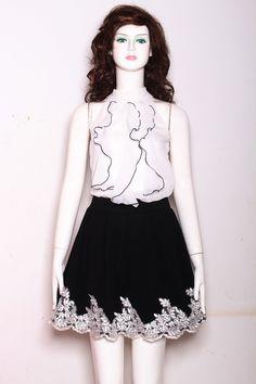Váy Xòe Thuê Ren Tuyệt Đẹp
