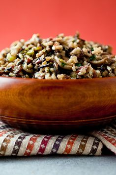 NYT Cooking: Wild rice can be the base of a satisfying and refined Thanksgiving stuffing, particularly when it is combined with mushrooms, almonds, sherry and herbs, as it is here. Use this savory mixture to stuff a turkey to serve to the omnivores at your table, or bake it separately and serve it as a side dish, one that is especially good for vegetarians and vegans.
