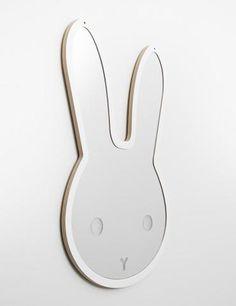 Mirror That's Mine Sweet Bunny White