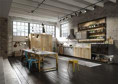 #KeukenInspiratie: Italiaans #keukendesign in een loft #Tieleman #Snaidero #keukens