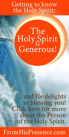 Blog series about getting to know the Holy Spirit. The Holy Spirit is generous and He LOVES to give! To you! Check out this encouraging post about the goodness of God to get to know the Holy Spirit more intimately.
