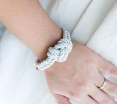 BESTSELLER for your beautiful wedding day!!  Set of THIRTY FIVE Nautical Silk cord Bracelet Elegant and modern Nautical style silk cord bracelets with