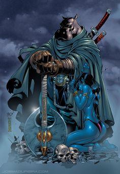 A Legendary Giff Warrior, Hipflask...