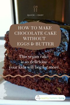 How to Make Chocolate Cake With Avocado Instead of Eggs and Butter