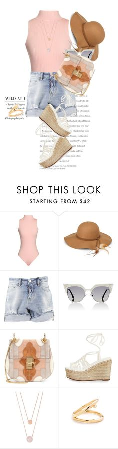 """Cute Shorts..."" by unamiradaatuarmario ❤ liked on Polyvore featuring Steve Madden, Dsquared2, Fendi, Chloé, Michael Kors, jeanshorts, denimshorts and cutoffs"