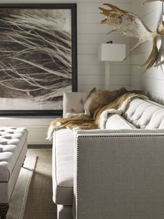 Darryl Carter | This Room Scene Features The Blake Tufted Sofa, Blake  Tufted Ottoman,