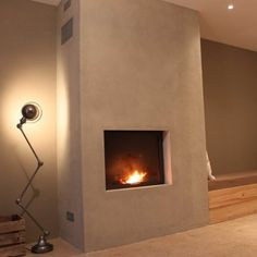 manteau de cheminée épuré