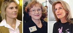 Merikukka Forsius, Anneli Taina ja Tanja Karpela.