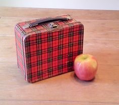 Vintage Plaid Lunchbox by theindustrycottage on Etsy